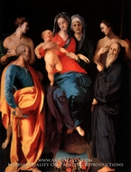 The Virgin and Child with Saint Anne and Four Saints by Jacopo Pontormo