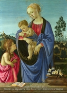 The Virgin and Child with Saint John painting reproduction, Filippino Lippi