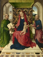 The Virgin and Child with Saint Peter and Saint Paul painting reproduction, Dieric Bouts