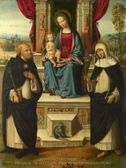 The Virgin and Child with Saints painting reproduction, Garofalo