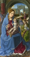 The Virgin and Child with Saints painting reproduction, Paolo Da San Leocadio