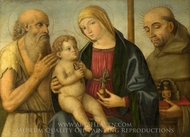 The Virgin and Child with Saints painting reproduction, Filippo Mazzola