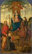The Virgin and Child with Saints painting reproduction, Giovanni Martini Da Udine