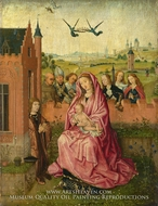 The Virgin and Child with Saints and Donor by Lieven Van Lathem