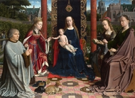 The Virgin and Child with Saints and Donor painting reproduction, Gerard David