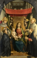 The Virgin and Child with Saints and Donors painting reproduction, Gerolamo Giovenone