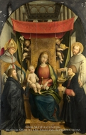 The Virgin and Child with Saints and Donors by Gerolamo Giovenone