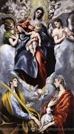 The Virgin and Child with Saints Martina (or Thelca) and Agnes painting reproduction, El Greco