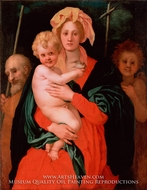 The Virgin and Child With St. Joseph and John the Baptist by Jacopo Pontormo