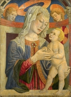 The Virgin and Child with Two Angels painting reproduction, Giovanni Francesco Da Rimini