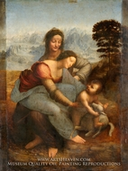 The Virgin and the Child with St. Anne by Leonardo Da Vinci