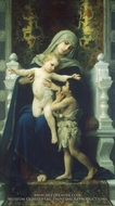The Virgin, Baby Jesus and Saint John the Baptist (La Vierge, L'Enfant Jesus et Saint Jean Baptiste) painting reproduction, William Adolphe Bouguereau