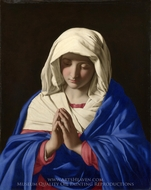 The Virgin in Prayer painting reproduction, Sassoferrato