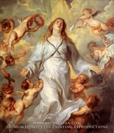 The Virgin Mary as Intercessor painting reproduction, Sir Anthony Van Dyck