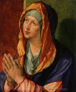 The Virgin Mary in Prayer painting reproduction, Albrecht Durer