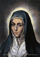 The Virgin Mary (Mater Dolorosa) painting reproduction, El Greco