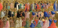 The Virgin Mary with the Apostles and Other Saints painting reproduction, Fra Angelico