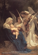 The Virgin with Angels (La Vierge aux Anges) painting reproduction, William Adolphe Bouguereau