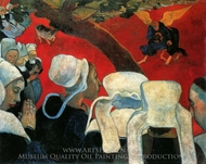 The Vision after the Sermon painting reproduction, Paul Gauguin