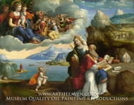The Vision of Saint Augustine painting reproduction, Garofalo