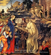 The Vision of St. Bernard painting reproduction, Filippino Lippi