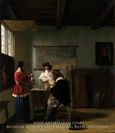 The Visit by Pieter De Hooch