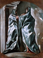 The Visitation painting reproduction, El Greco