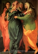 The Visitation painting reproduction, Jacopo Pontormo