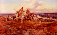 The Wagons painting reproduction, Charles Marion Russell