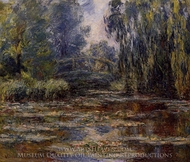 The Water-Lily Pond and Bridge painting reproduction, Claude Monet