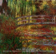 The Water-Lily Pond (Japanese Bridge) by Claude Monet
