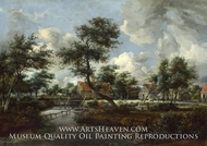 The Watermills at Singraven near Denekamp by Meindert Hobbema