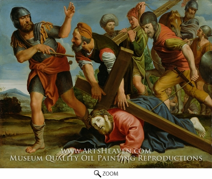 Painting Reproduction of The Way to Calvary, Domenichino