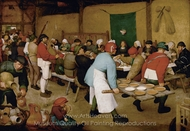The Wedding Feast in a Barn painting reproduction, Pieter Bruegel