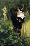 The Widower painting reproduction, James Tissot