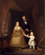 The Williamson Family painting reproduction, John Mix Stanley