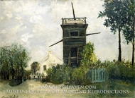 The Windmill at Sannois by Maurice Utrillo