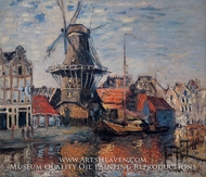 The Windmill on the Obekende Canal by Claude Monet