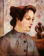 The Woman with the Chignon painting reproduction, Paul Gauguin