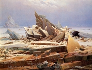 The Wreck of the Hope painting reproduction, Caspar David Friedrich