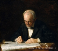The Writing Master (Benjamin Eakins) by Thomas Eakins