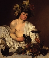 The Young Bacchus painting reproduction, Caravaggio