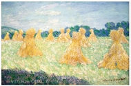 The Young Ladies of Giverny, Sun Effect painting reproduction, Claude Monet