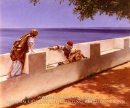 The Young Snake Charmer painting reproduction, Antonio Fabres