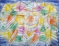 Theater-Mountain-Construction painting reproduction, Paul Klee