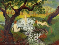 Three Bathers with Irises painting reproduction, Paul Ranson