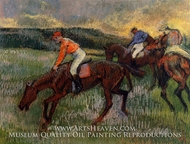 Three Jockeys by Edgar Degas