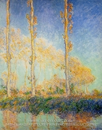 Three Poplar Trees in the Autumn by Claude Monet