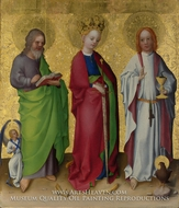 Three Saints by Stefan Lochner