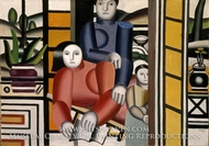Three Women by a Garden by Fernand Leger